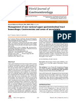 Management of non-variceal upper gastrointestinal tract hemorrhage