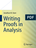 Kane 2016 Writing Proofs in Analysis