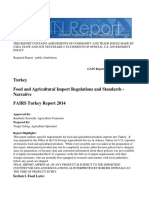 Food and Agricultural Import Regulations and Standards Narrative Ankara Turkey 5142014