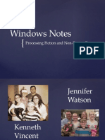 Windows Notes Presentation