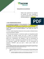 1 - Novo Regulamento Sicoob Integra Manaus