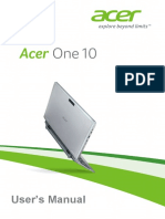 Acer One 10 Manual