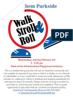Walk Stroll Roll Group Flier