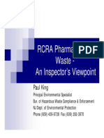 5 RCRA Pharmaceutical Waste - An Inspectors Viewpoint - King 11-17-11