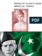Foresightedness of Quaid e Azam