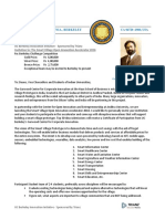 Letter of Invitation From UC Berkeley Smart Village Challenge to Deans