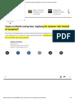Carpio on Manila ZO, Variance 'Rule' vs Exception, 2015