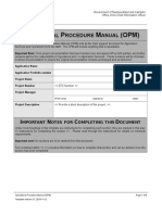 Operational Procedure Manual Template