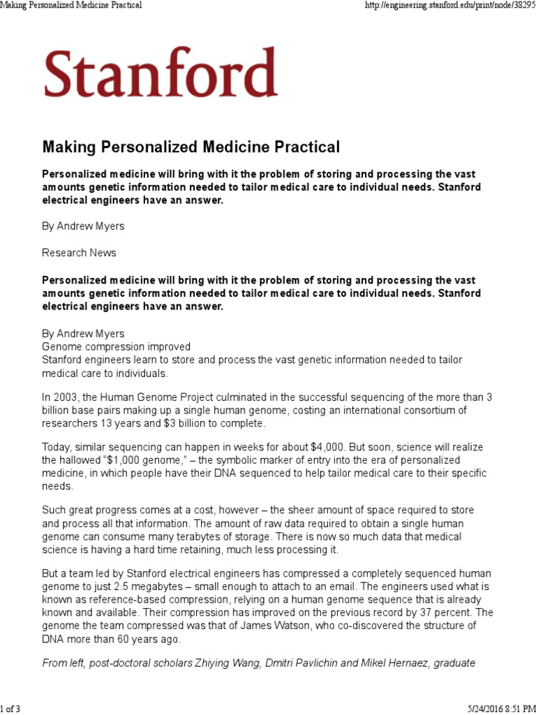 Making Personalized Medicine Practical | Personalized