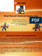 Most Recent Android Games App