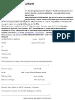 Memorandum Asserting Rights