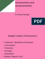 Micro and Macroeconomics