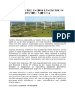 Changing the Energy Landscape in Central America