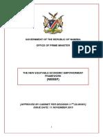 The New Equitable Economic Empowerment Framework (Namibia)