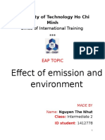 Effect of Emission on Environment