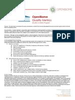 Quality Metrics OpenBiome