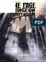 One-page Dungeon Compendium