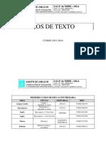 A Torre Cela Libros Texto 2015_2016