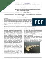 Standardisation of Convolvulus pluricaulis Choisy Herbs collected from Jalandhar, Punjab
