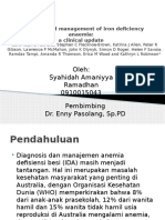 Diagnosis and Management of Iron Deficiency Anaemia