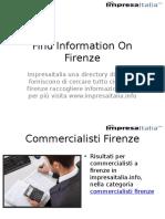 Find Information on Firenze