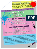 Kids Art Classes Flier