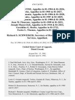 Catherine Santise, in 81-1904 & 81-2026, Michael Stetsko, in 81-1905 & 81-2027, Salvatore Altomonte, in 81-1906 & 81-2028, Oliver McCauley in 81-1907 & 81-2029, Elfriede F. Simmons, in 81-1908 & 81-2030, Joan M. Finucane, in 81-1909 & 81-2031, Joseph Muscovitch, in 81-1910 & 81-2032, Geraldine G. Roche, in 81-2722, Faries L. Thomas, in 81-2725 v. Richard S. Schweiker, Secretary of Health and Human Services, 676 F.2d 925, 3rd Cir. (1982)