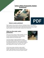 ICTWater Pollution FAQ