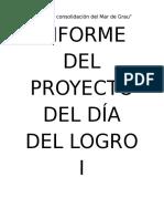 Informe Del Dia Del Logro SecundaFilename