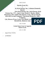 Martin (Leon M.) v. Brown (Harold Ed), Kyle Energy, Inc., Lehman (Emmett), Brown (Roberta Ann), T/d/b/a Kyle Energy, Inc., Kyle Energy, Kyle Energy Inc., N v.  Apex Corp., Seele (C. Doyle), Adobe Resources, F/k/a Adobe Oil and Gas. Corp., Devos (Lloyd), D/B/A Devos and Company, Thorstenn (Susan E.), Able Company, Ltd., Brown (Tracy Lynn, Terri Beth, Lori, Linda, Julie, Harold Ed., Roberta Ann), 856 F.2d 183, 3rd Cir. (1988)