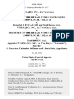 """Vornado, Inc., T/a Two Guys v. Trustees of the Retail Store Employees' Union Local 1262 v. Benedict J. Focarino and Neal Rosen Vornado, Inc., T/a Two Guys v. Trustees of the Retail Store Employees' Union Local 1262 v. Neal Rosen Appeal of Vornado, Inc., T/a Two Guys, (""""Vornado""""), Benedict J. Focarino, Catherine Stillman and Linda Soto, 829 F.2d 416, 3rd Cir. (1987)"""