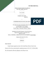 Joseph Aruanno v. Commissioner Social Security, 3rd Cir. (2013)
