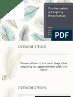 Fundamentals of Property Presentation