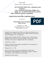 Town Sound and Custom Tops, Inc., Suburban Auto Sound & Communications, Inc., Northeast Electronics Supply, Inc., Dominion Radio Supply, Inc., on Behalf of Themselves and All Others Similarly Situated v. Chrysler Motors Corporation, 959 F.2d 468, 3rd Cir. (1992)
