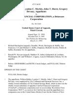Willem Ridder, Lyndon C. Merkle, John T. Hurst, Gregory Devany v. Cityfed Financial Corporation, a Delaware Corporation, 47 F.3d 85, 3rd Cir. (1995)