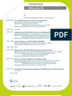 Seminario Internacional Movilidad Urbana y Buen Gobierno PROGRAMA PRELIMINAR