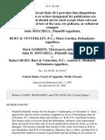 John Mitchell v. Burt & Vetterlein, P.C. Mark Gordon v. Mark Gordon, Third-Party-Defendant. John H. Mitchell v. Robert Burt Burt & Vetterlein, P.C. Andrea L. Bushnell, 81 F.3d 169, 3rd Cir. (1996)