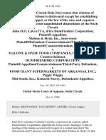 John H.O. Lagatta, D/B/A Dumfrieshire Corporation, Malone & Hyde, Inc., Intervenor Plaintiff/defendant-Counterclaimant/third-Party Plaintiff/counterdefendant v. Malone & Hyde Food Companies, Inc., Defendant-Counterclaimant. Dumfrieshire Corporation, Plaintiff-Appellant/counterclaimant/third-Party v. Food Giant Supermarkets of Arkansas, Inc. Piggly Wiggly Mid-South, Inc. Kenneth Storey, 98 F.3d 1342, 3rd Cir. (1996)