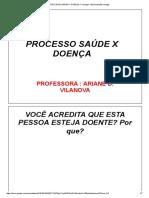 PROCESSO SAÚDE X DOENÇA 1° aula
