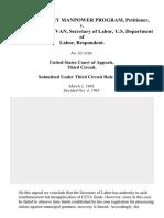 Lehigh Valley Manpower Program v. Raymond J. Donovan, Secretary of Labor, U.S. Department of Labor, 718 F.2d 99, 3rd Cir. (1983)