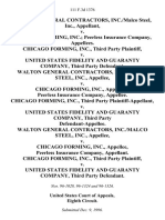 Walton General Contractors, Inc./malco Steel, Inc. v. Chicago Forming, Inc. Peerless Insurance Company, Chicago Forming, Inc., Third Party v. United States Fidelity and Guaranty Company, Third Party Walton General Contractors, Inc./malco Steel, Inc. v. Chicago Forming, Inc., Peerless Insurance Company, Chicago Forming, Inc., Third Party v. United States Fidelity and Guaranty Company, Third Party Walton General Contractors, Inc./malco Steel, Inc. v. Chicago Forming, Inc., Peerless Insurance Company, Chicago Forming, Inc., Third Party v. United States Fidelity and Guaranty Company, Third Party, 111 F.3d 1376, 3rd Cir. (1997)