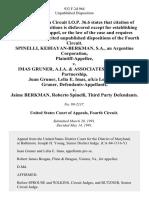Spinelli, Kehiayan-Berkman, S.A., an Argentine Corporation v. Imas Gruner, A.I.A. & Associates, a Maryland Partnership, Juan Gruner, Lelia E. Imas, A/K/A Lelia Imas Gruner v. Jaime Berkman, Roberto Spinelli, Third Party, 932 F.2d 964, 3rd Cir. (1991)