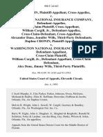 Daphne Cronin, Cross-Appellee v. Washington National Insurance Company, Cross-Claim-Plaintiff, Cross-Appellant, William Cargill, Jr., Cross-Claim-Defendant, Cross-Appellant, Alexander Dane, Jennifer Wills, Third-Party Daphne Cronin v. Washington National Insurance Company, Cross-Claim William Cargill, Jr., Cross-Claim Alex Dane, Jimmy Wills, Third-Party, 980 F.2d 663, 3rd Cir. (1993)