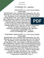 Lesal Interiors, Inc. v. Echotree Associates, L.P., a New Jersey Limited Partnership Hlm/echotree, Inc. Echelon Glen Cooperative, Inc. H.L. Michaels, Inc. M.J. Rayes Incorporated, A/K/A M.J. Raynes, Inc. Resolution Trust Corporation, Receiver of Coreast Savings Bank F.S.B., Whose Address is 808 Moorefield Park Drive, Richmond, Virginia, 23236 Federal Deposit Insurance Commission, as Receiver for American Savings Bank, F.S.B. General Electric Capital Corporation Dlg Financial Services Corporation, A/K/A Dlg Financial Services, Inc. Colonial Equity of New York, Inc. James D. Demetrakis Vincent Travalino Del Mastro's, Inc., T/a Del's Enterprise Del Mastro Enterprises, Inc. Horizon I Corporation Colonial Dpc Corp., I. Lesal Interiors, Inc. v. Echotree Associates, L.P., a New Jersey Limited Partnership Hlm/echotree, Inc. Echelon Glen Cooperative, Inc. H.L. Michaels, Inc. M.J. Rayes Incorporated, A/K/A M.J. Raynes, Inc. Resolution Trust Corporation, Receiver of Coreast Savings Bank F.S.B., W