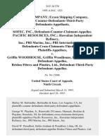 Exxon Company Exxon Shipping Company, Plaintiffs-Counter-Defendants-Third-Party v. Sofec, Inc., Defendant-Counter-Claimant-Appellee. Pacific Resources, Inc. Hawaiian Independent Refinery, Inc. Pri Marine, Inc. Pri International, Inc., Defendants-Cross-Claimants-Third-Party v. Griffin Woodhouse, Griffin Woodhouse, Inc., Third-Party Bridon Fibres and Plastics, Ltd., Defendant-Third-Party, 54 F.3d 570, 3rd Cir. (1995)