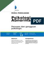 P13. Penuaan Dan Gangguan Psikologis