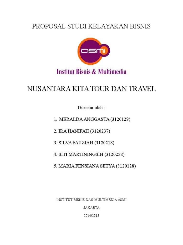 Proposal Bisnis Travel