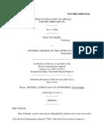 Riaz Talukder v. Atty Gen USA, 3rd Cir. (2011)