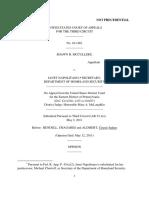 McCullers v. Secretary Dept Homeland, 3rd Cir. (2011)