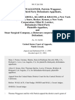 Thomas R. Waggoner, Patricia Waggoner, Plaintiffs-Third-Party v. Snow, Becker, Kroll, Klaris & Krauss, a New York Corporation Snow, Becker, Krauss, a New York Corporation Elliot H. Lutzker, Defendants-Third-Party and Staar Surgical Company, a Delaware Corporation, Third-Party-Defendant, 991 F.2d 1501, 3rd Cir. (1993)